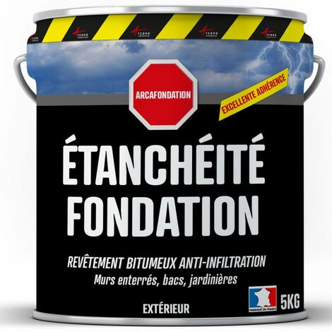 Enduit bitumineux pour Fondations Murs enterrés - ARCAFONDATION