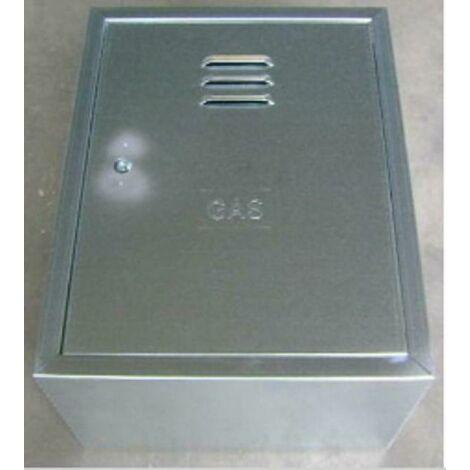 Armadietto in lamiera zincata per contatori del gas 45x35x25