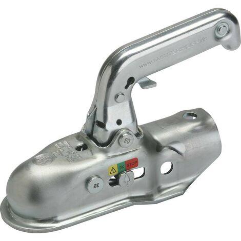 Tête d'attelage 1500 Kg pour remorque freinée boule 50mm Timon rond 45 mm-S17691