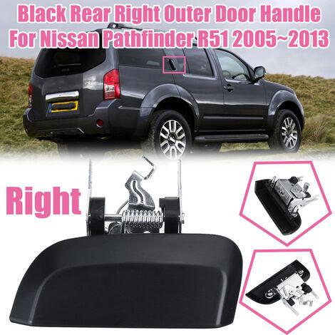 Poignée de porte extérieure arrière droite noire pour Nissan Pathfinder R51 2005 ~ 2013 (droite)