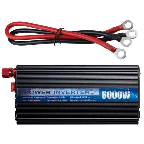 Convertisseur de voiture 6000-12000W 12V DC à 220V AC avec double port USB 3.1A SwagX