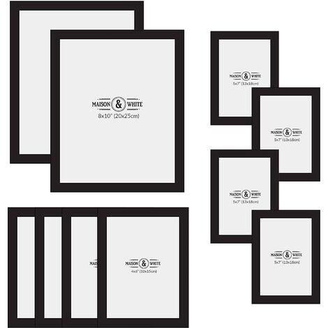 Cadres photo assortis - Ensemble de 10   M&W Noir - Black