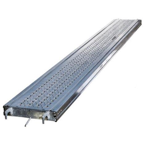 Plancher acier galvanis/é longueur 2.00 m largeur 0,36 m