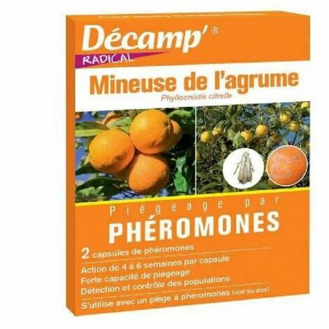Phéromone contre la mineuse des agrumes (2 capsules)