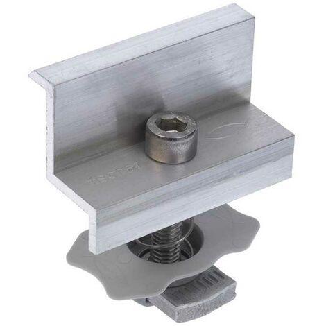 Morsetto Finale in Alluminio per Fotovoltaico con Cornice Fischer PM F35 Fischer sistemi di fissaggio