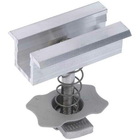 Morsetto Centrale in Alluminio per Fotovoltaico con Cornice Fischer PMC 33-39 Fischer sistemi di fissaggio