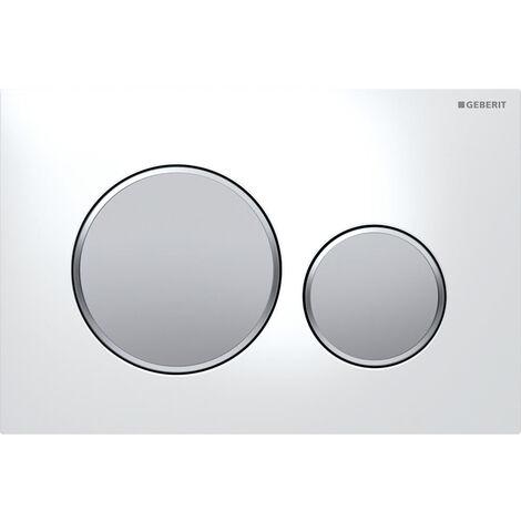 Piastra attuatore Geberit Sigma20 per il lavaggio a 2 volumi, colorazione: cromato opaco / cromato lucido / cromato lucido - 115.882.KN.1