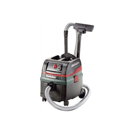 Metabo ASR 25 L SC 240V, 25Ltr, wet and dry vacuum cleaner with twin filters, semi-automatic filter cleaning and Auto-takeoff (Dust Class L)