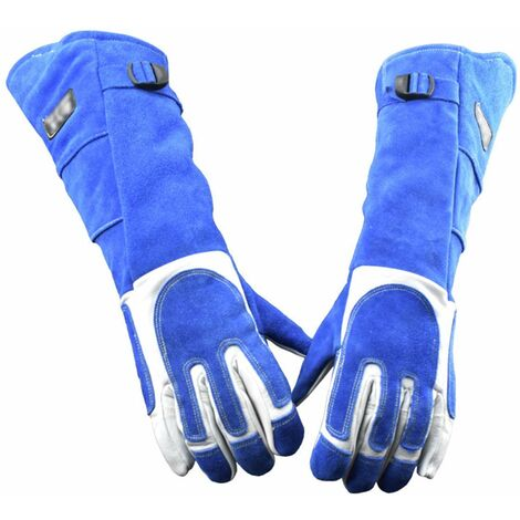 Animal Anti-Bite Protective Gloves Soft Leather Thicken Anti-Scratch Gloves Bite-resistant Protective Gloves (XL)