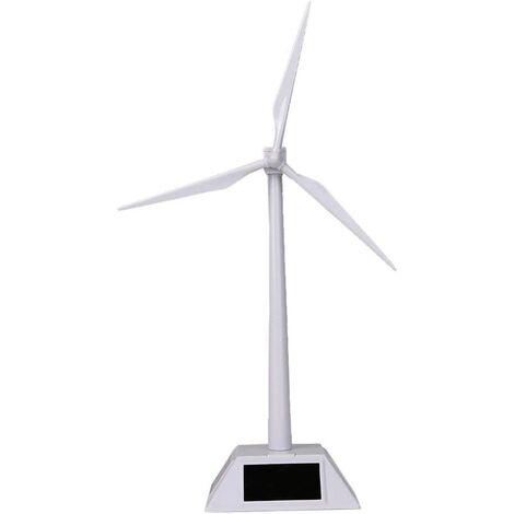 Desktop Wind Turbine Model Solar Powered Windmills ABS Plastics White for Education or Fun