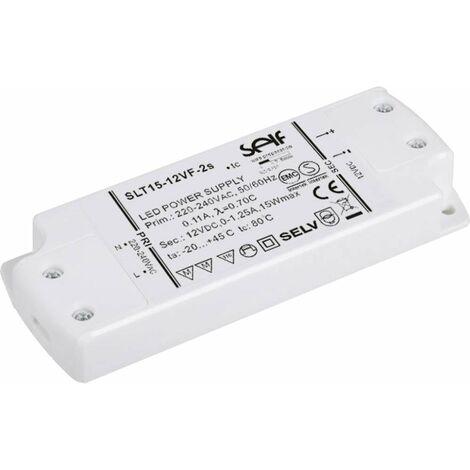 Transformateur pour LED, Driver de LED à tension constante Self Electronics SLT15-12VF-2S SLT15-12VF-2S 15 W 1.25 A 12