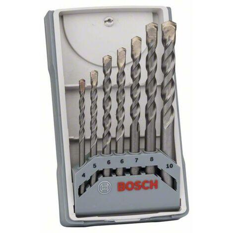 Jeu de forets pour béton 7 pièces tige cylindrique Bosch Accessories 2607017082 1 set