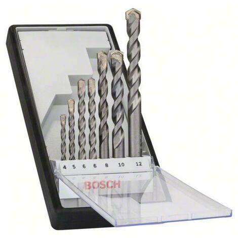 Jeu de forets pour béton 7 pièces tige cylindrique Bosch Accessories 2607010545 1 set