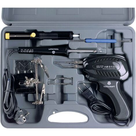 Set fer à souder,230 V, Pistolet à souder 100 W, fer à souder 30 W, 3ème main, pompe à dessouder