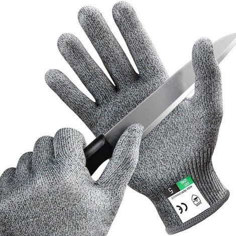 Gants Anti Coupures avec Protection Haute Performance de Niveau 5, Gants de Travail pour la Cuisine, Mandoline, Filet de Poisson, Découpe de Viande et Sculpture (L)