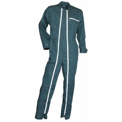 Combinaison 2 zips poly coton vert FUSIBLE LMA - plusieurs modèles disponibles