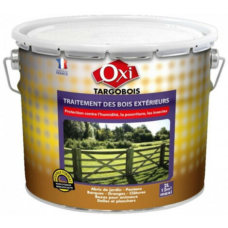 Traitement des bois extérieurs TARGOBOIS 2L Oxi: protection contre l'humidité, la pourriture, les insectes CARBONYL