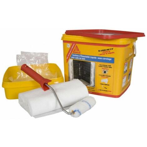 Kit douche à l'italienne 6m2 SIKA étanchéité liquide