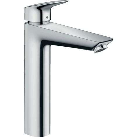 Hansgrohe Logis 190 Single lever basin mixer, with pull-out and synthetic waste, chrome (71090000)
