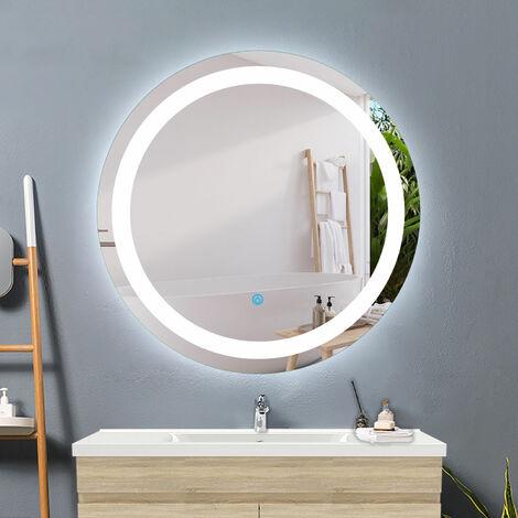 Miroir ronde de salle de bain