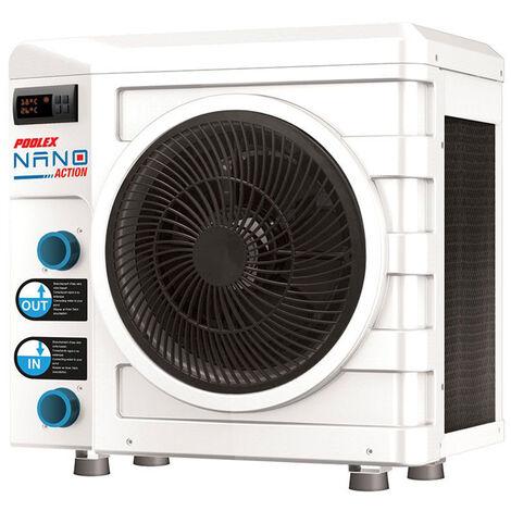 Pompe à chaleur Nano Action 3 kW pour piscine hors-sol jusqu'à 20 m³ - Poolex