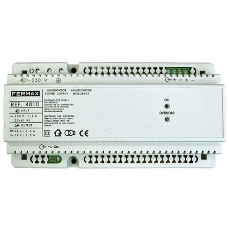 Alimentador DIN10 230VAC/12VAC+18VDC-1,5A