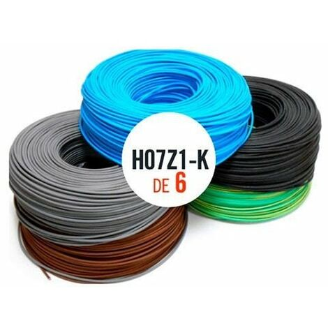 Rollo 100mtrs 6 mm. Cable Flexible Libre de Halogeno
