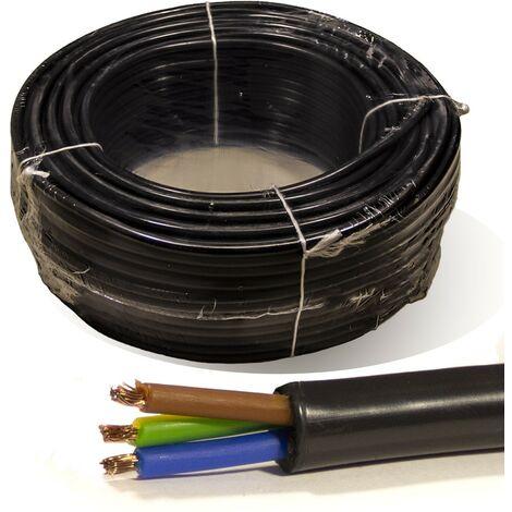 Rollo 100 mtrs. Manguera 3X2,5 mm² FLEXIBLE PVC RV-K 0,6/1KV
