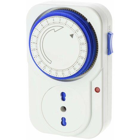 Presa elettrica temporizzata timer 24 h programmabile programmatore orologio