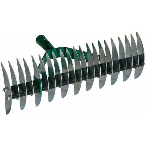 Rastrello sarchiatore a 32 denti, arieggiatore manuale in acciaio verniciato