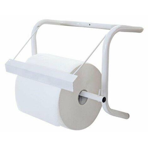 Portarotolo a muro portabobbina carta industriale strappacarta parete dispenser