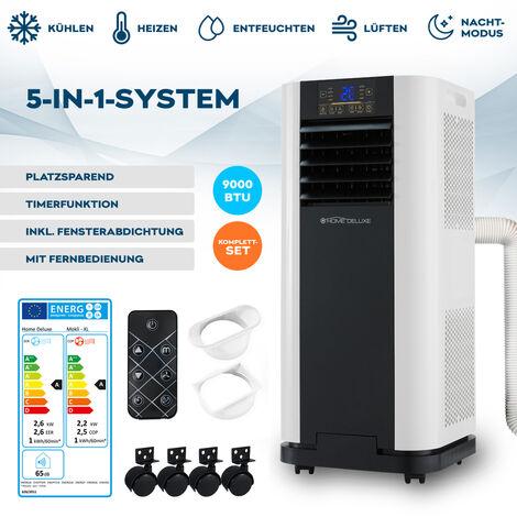Home Deluxe - Mobile Klimaanlage MOKLI XL I Klimagerät, Heizgerät, Luftentfeuchtung