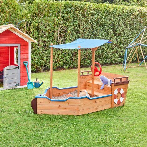 Home Deluxe - Sandkasten Matschekiste | Kinderspielzeug, Sandspiel, abdeckbarer Sandkasten