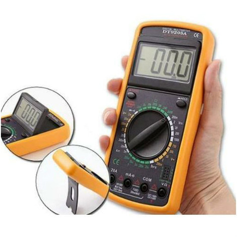 Tester Digitale Elettronico Multimetrico Puntali LCD Professionale Volt Ampere