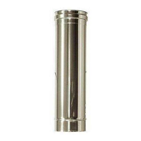 Canna fumaria DN 120 1 mt L 1000 mm tubo acciaio inox 316