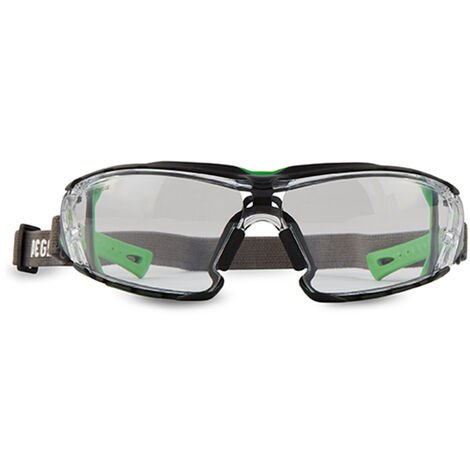 103.03 Gafas Proteccion BLACK&WHITE Lente PC Inc. Antivaho + Banda elástica
