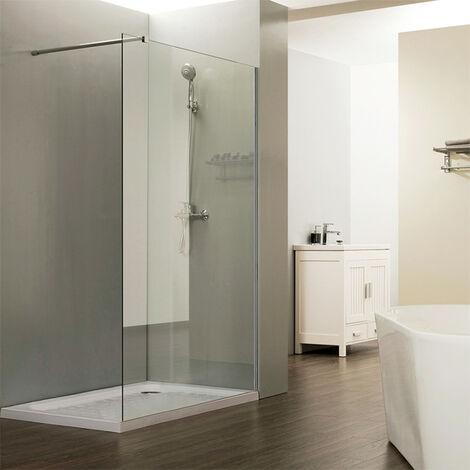Paroi de douche fixe CALYPSO verre 8 mm - 100x200 cm