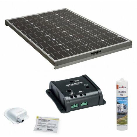ANTARION Kit complet panneau solaire 130W Haute performance camping car