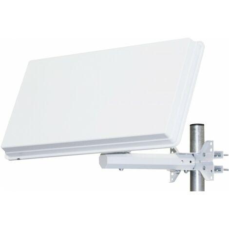 SELFSAT Parabole satellite Plate 1 Sortie avec LNB intégré Ideal ASTRA EUTELSAT - Blanc