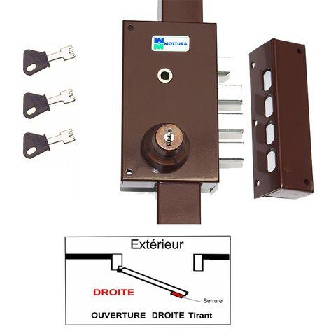 Serrure 3 Points Mottura 448 A2P1* Etoile Marron Agréé assurances Avec 3 clés a Pompe Incrochetables