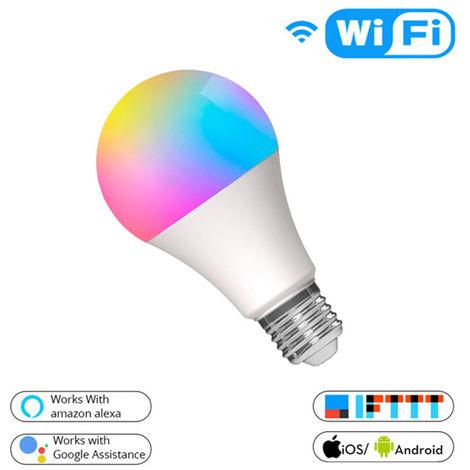 Lampadina Led Smart Tuya A60 E27 10W WiFi RGB + Bianco temperatura colore regolabile
