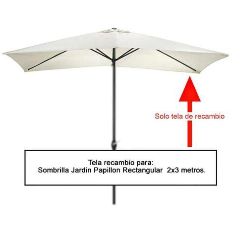 Tela recambio sombrilla rectangular 2x3 metros (08091055)