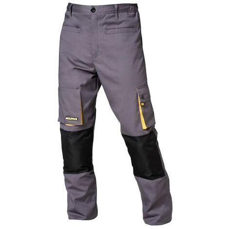 Pantalones de trabajo largos gris/amarillo talla 42/44 m