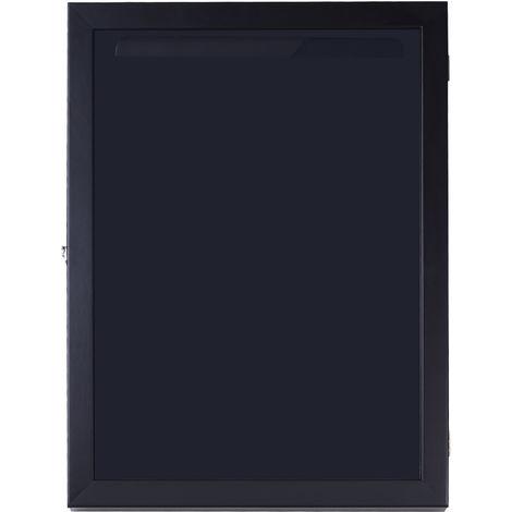 Frame box T-frame cadre nielsen cadre pour maillot porte acrylique doublure interne feutre 60L x 7l x 80H cm noir