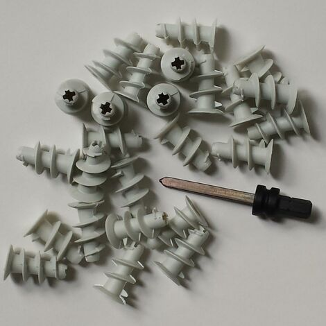 50 Gipskartondübel + 1 Setzwerkzeug