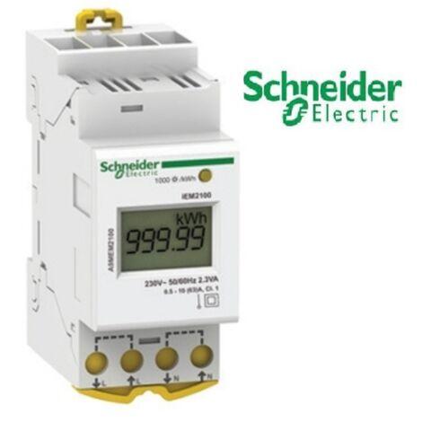 Acti9 iEM - compteur d'energie modulaire monophasé - 230V - 63A , Schneider Réf A9MEM2100