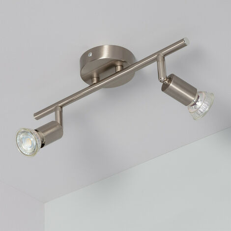 Lámpara de Techo Orientable Oasis 2 Focos Plata Plata - Plata