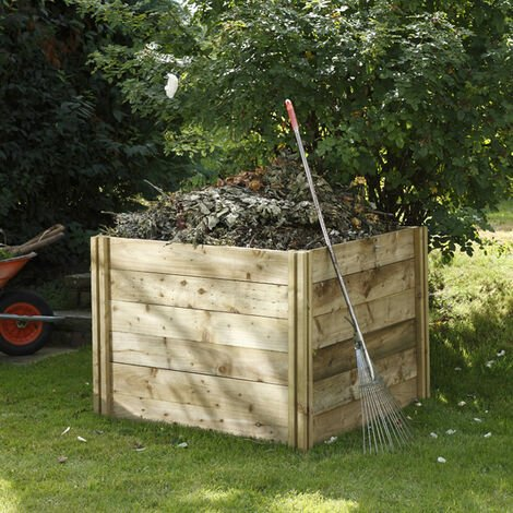 Forest Slot Down Wooden Compost Bin (1.06x1.06m)