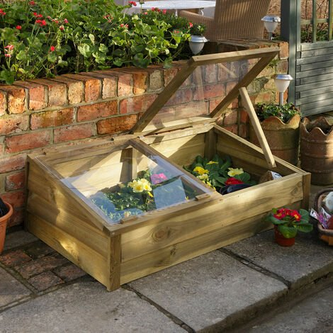 3'7 x 2'1 Forest Overlap Wooden Cold Frame (1.09m x 0.63m)