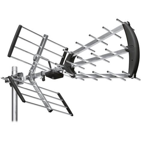Antenne d'extérieur trinappe 20 dB à fiche F